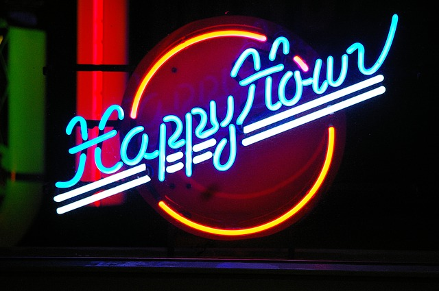 happy hour neon