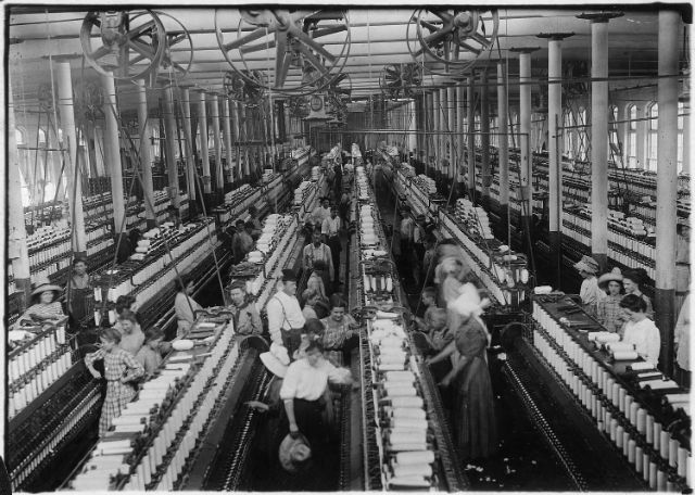 Industrial Revolution starting mid 18th century in the UK