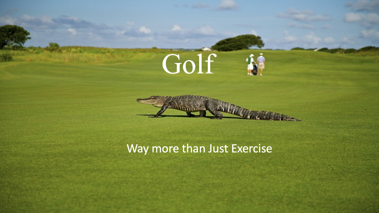 Golf way more than exercise